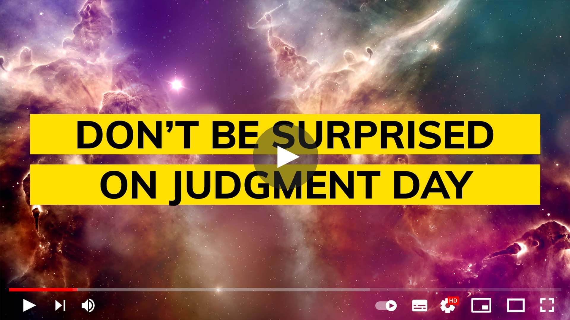Don't be surprised on judgment day